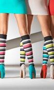 Randiga, färgsprakande stödstrumpor - Vogue
