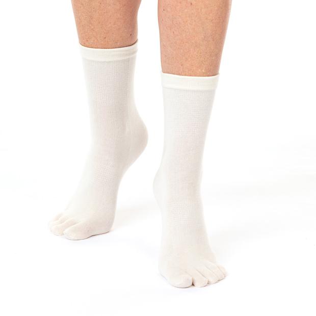 Funq Wear tunna tåstrumpor, Off-white, dam