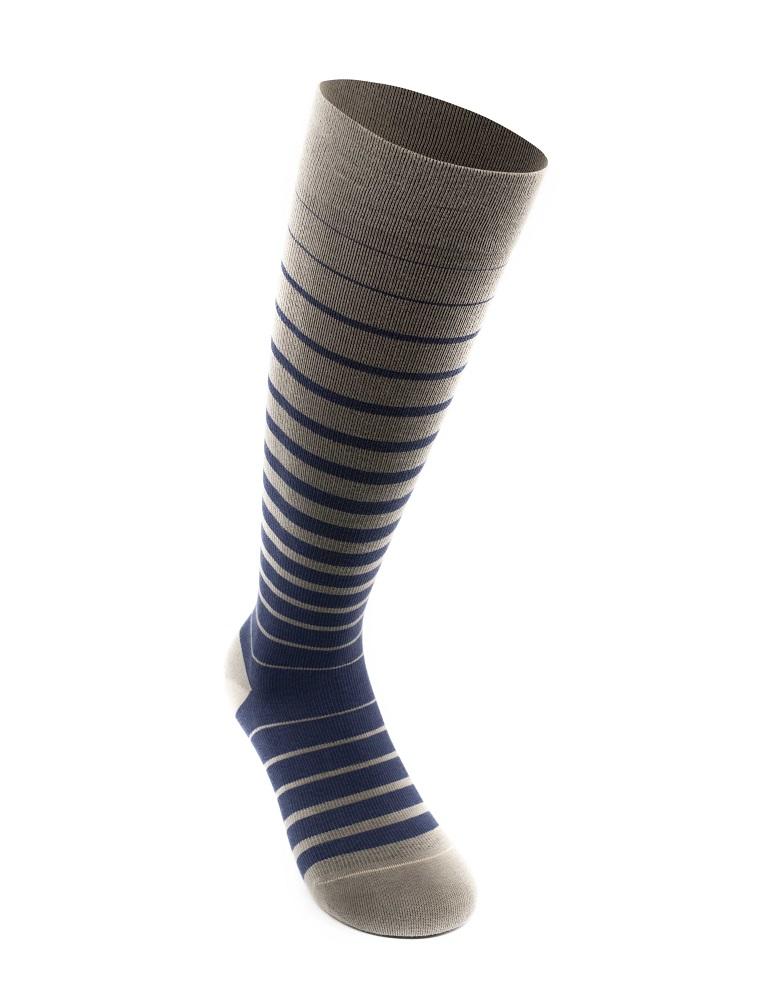Business Stripes stödstrumpor, blå