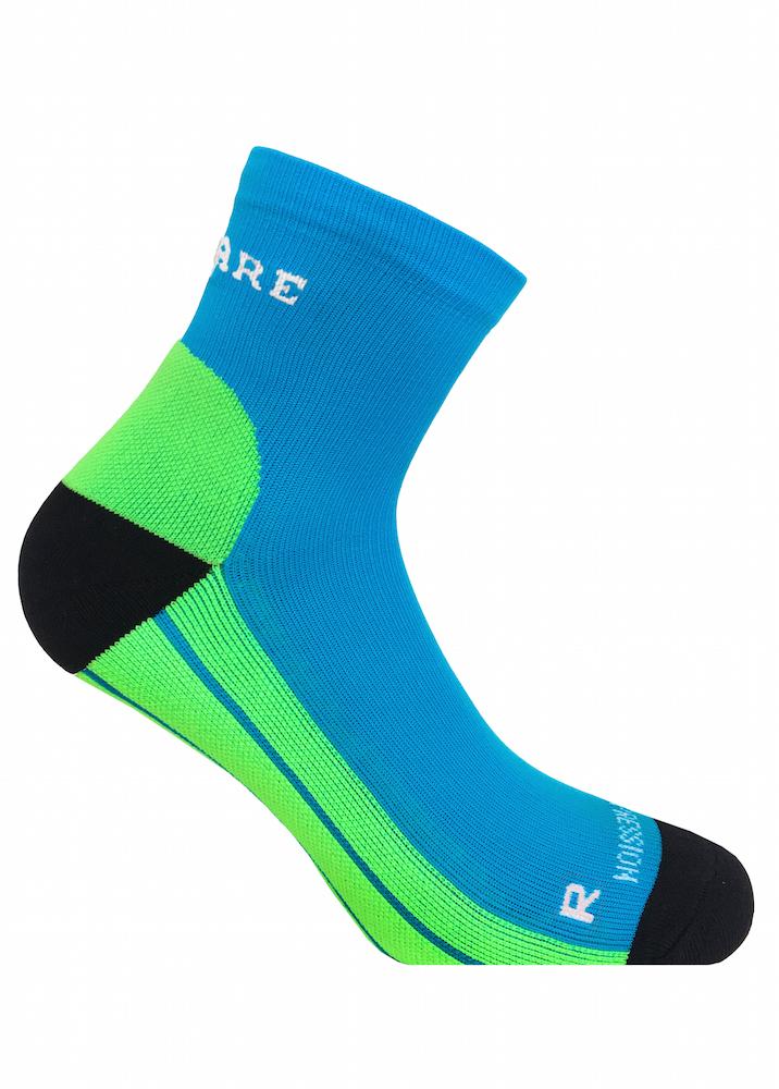 Blå/Gröna kompressionsstrumpor i sportig modell