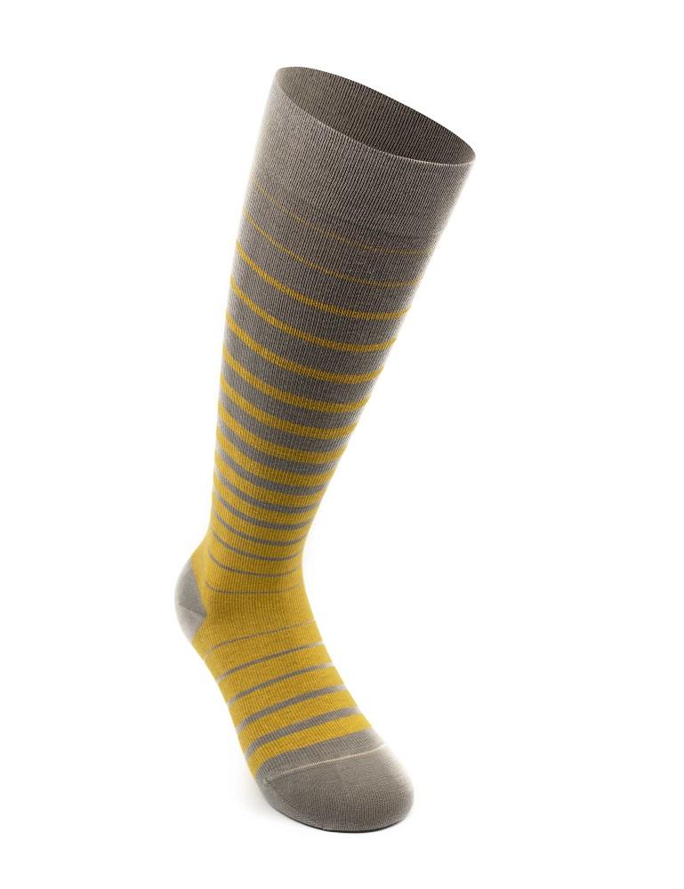 Business Stripes stödstrumpor, gul