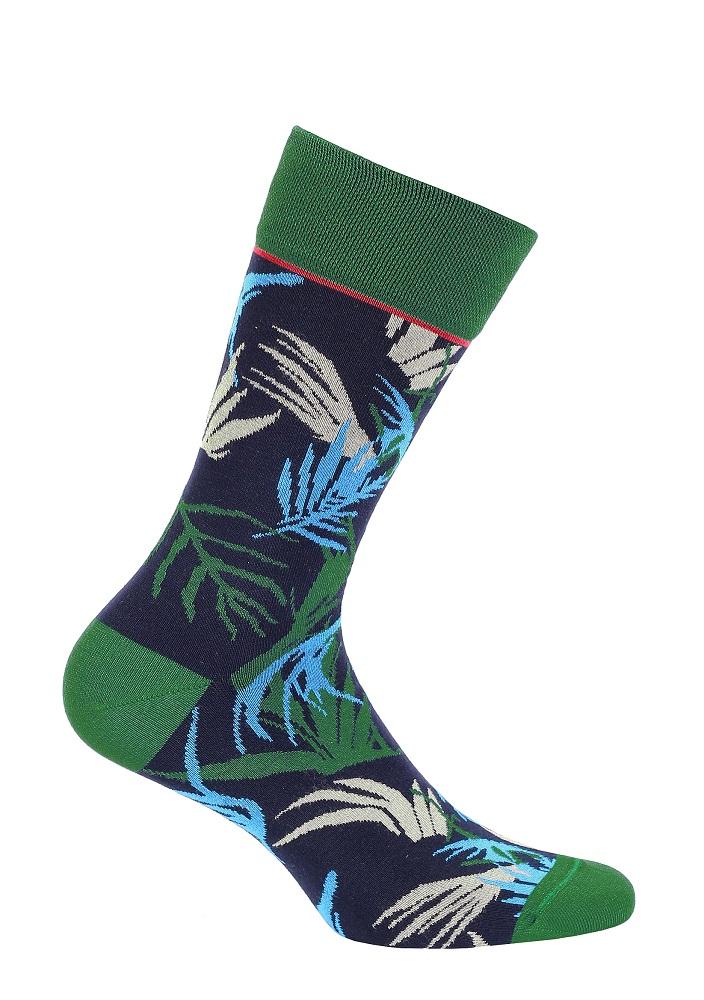 Funq Wear bambustrumpor blå palmblad 42-45