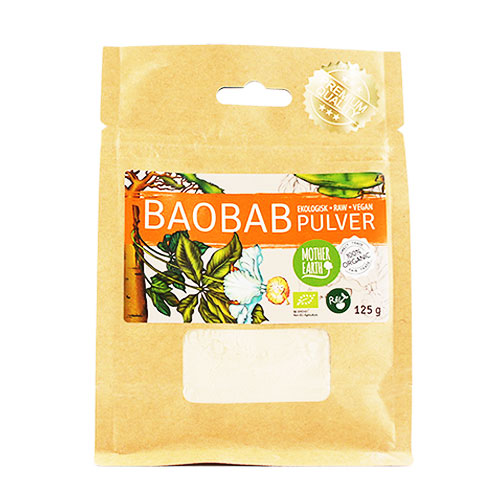 Baobapulver raw & eko, 125g